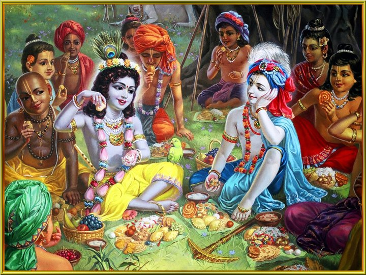 Krishna-Taking-Lunch-with-Gopas